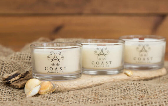 travel glass candle