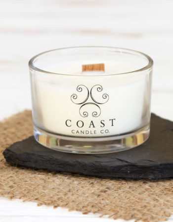 coast candle travel candle heart slate